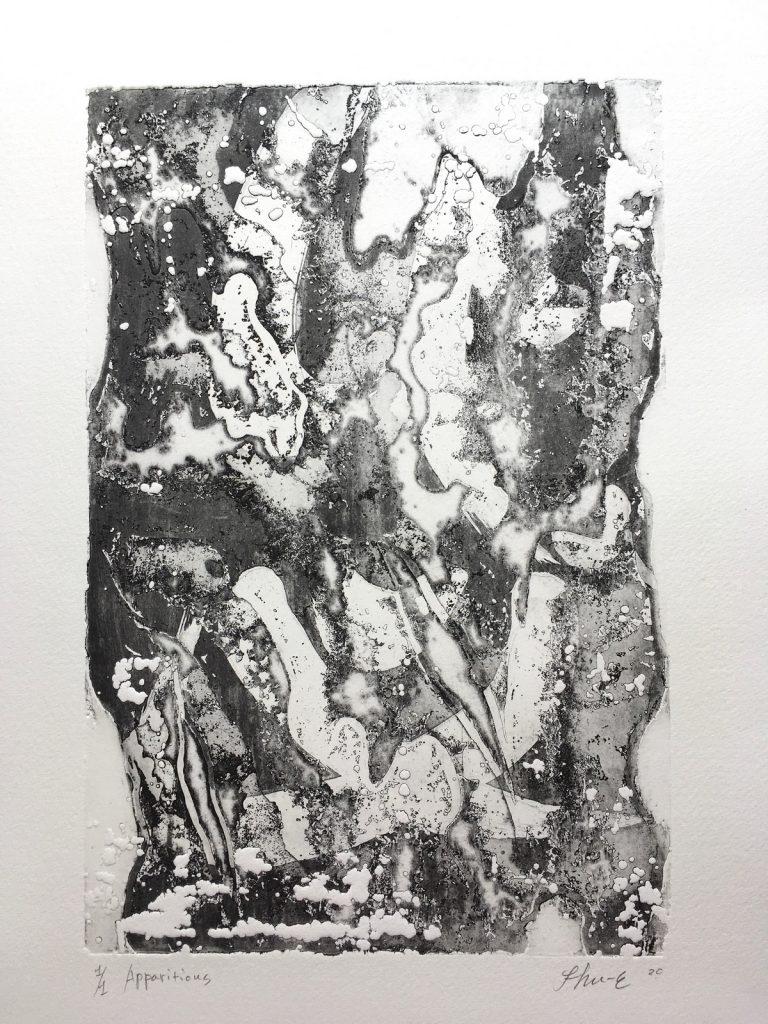 Apparitions-1/1  39×56  2020 – Technique : gravure en gaufrage