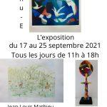 Exposition du 17 au 25 septembre 2021
