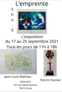 Read more about the article Exposition du 17 au 25 septembre 2021
